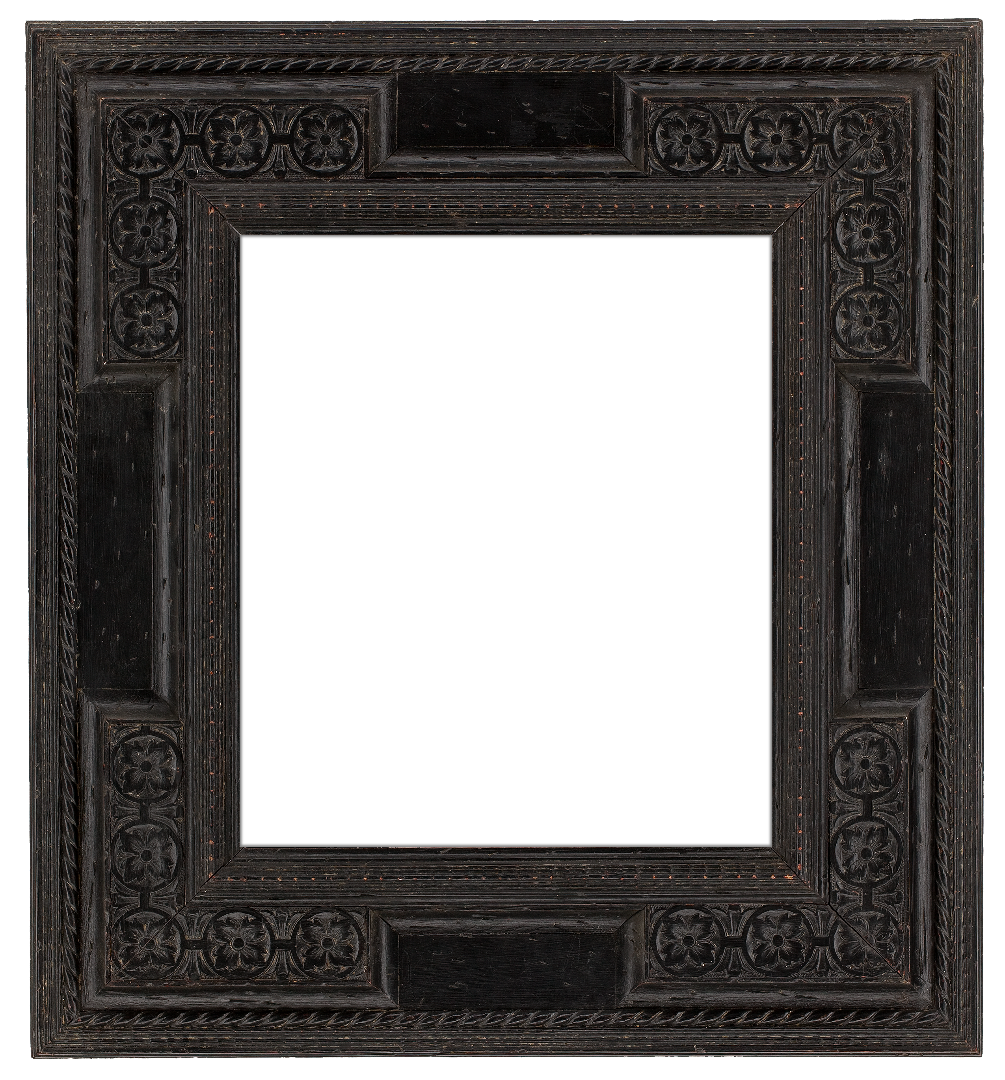 Dutch 19th Century Black Extended Frame