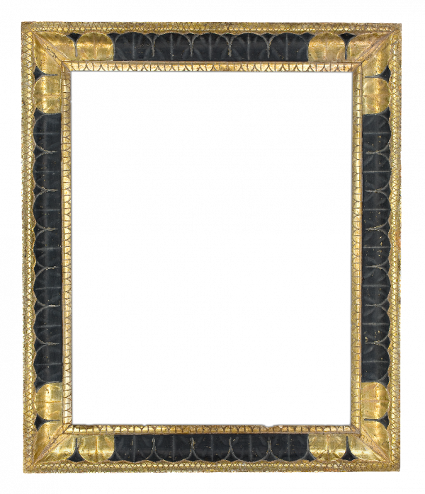 Italian 19th Century Black Cove Frame