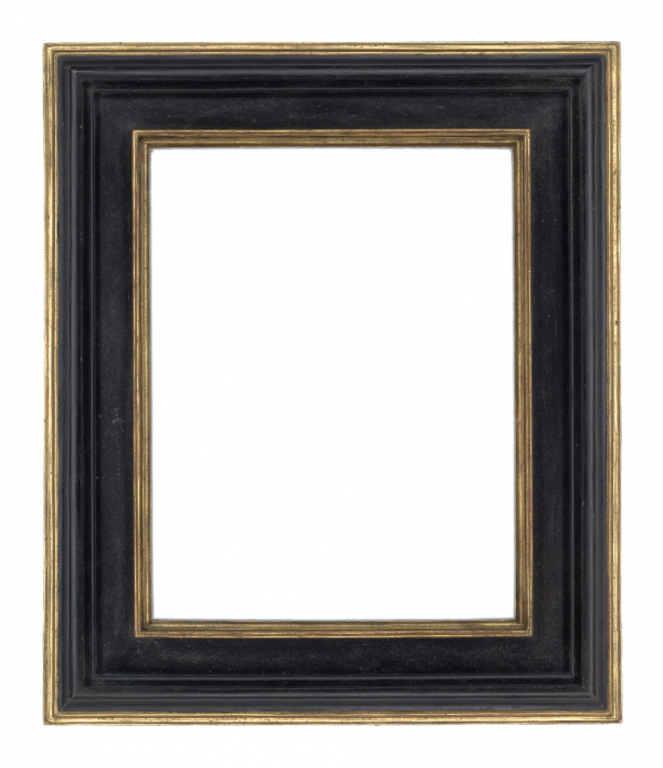 Italian 17th Century Black Receding Frame