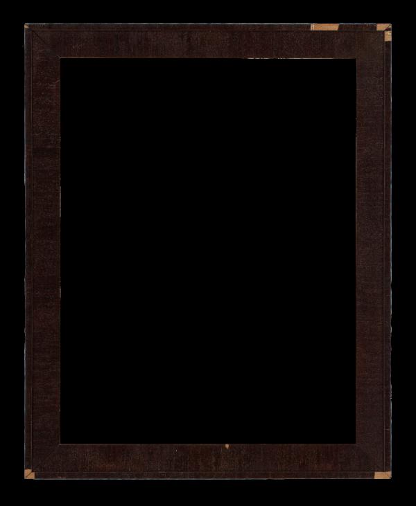 American 19th Century Veneer Beveled Frame
