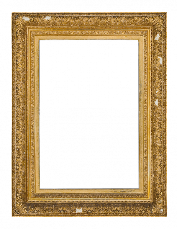 American 19th Century Composition Barbizon Frame
