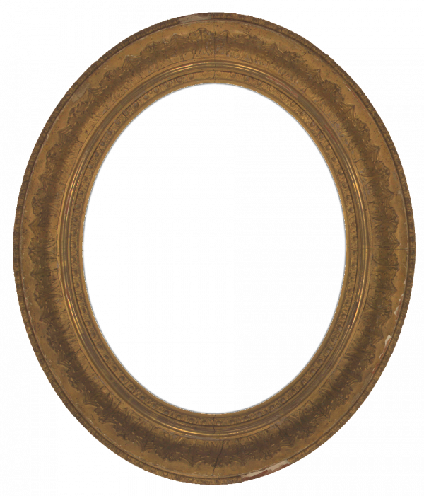 American 19th Century Composition Oval Frame