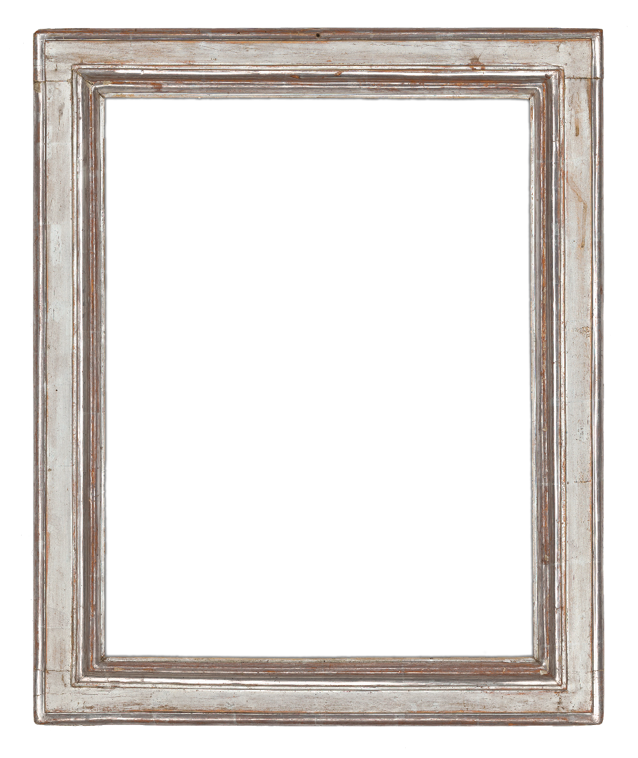 Italian 17th Century Silver Leaf Molding Panel Frame